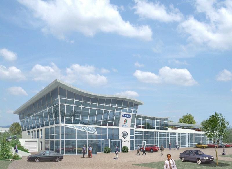 Korb autohaus ckerle for Korb architekten